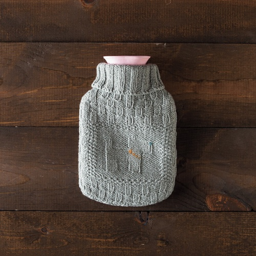 Best Friend Hot Water Bottle cover pattern by Kendra Nitta @missknitta , available on Ravelry and Knit Picks