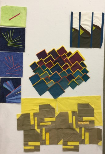 Class projects from the Solids Marathon at #quiltcon2016